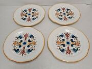 Set Of 4 Sur La Table Hand Crafted In Italy Earthenware Serving Plates 8