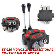 2 Spool Hydraulic Directional Control Valve Double Acting Tractors Loaders 25gpm