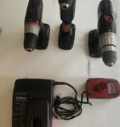 """Craftsman 19.2 Lithium Ion Set Battery Charger 1/2"""" Drill Driver And Right Angle"""