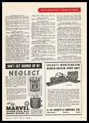 1947 Emerol Inc. Marvel Mystery Oil Inverse Oiler For Oil Field Engines Print Ad