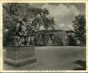 1951 Press Photo Statue On Cooper Grounds In Cooperstown New York. - Syb01301