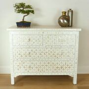 Bone Inlay Chest Of 4 Drawers White Mother Of Pearl Made To Order
