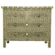 Bone Inlay Chest Of 4 Drawers Dresser Green Floral Made To Order