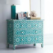Bone Inlay Blue Star Chest Of 4 Drawers Dresser Made To Order