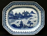 Large Chinese Blue And White Tray From The 17th Century Asian Art