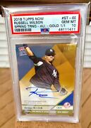 Russell Wilson 2018 Topps Gold Autograph 1/1 Psa 10 Yankees Seahawks