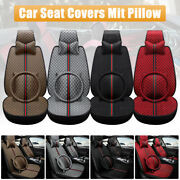 11pcs Auto Car Seat Covers Full Set Protectors Luxury Pu Leather Universal Fit