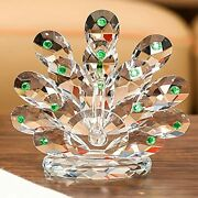 Magcolor Crystal Peacock Figurines Collectibles Glass Animal Figurine For Tab...