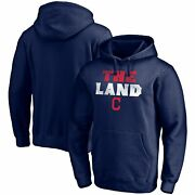 Cleveland Indians Fanatics Branded The Land Team Pullover Hoodie - Navy