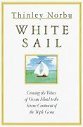White Sail Crossing The Waves Of Ocean Mind To The Serene Continent Of The...