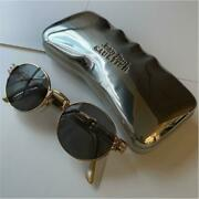 Jean Paul Gaultier Sunglass 56-6106 Gold Frame With Case Vintage