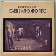Used Lp Earth Wind Fire Need Of Love Us-org /texture Cvr/nocut Rare Wl