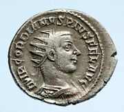 Gordian Iii Genuine Ancient Antique Vintage Silver Roman Coin Sol And Globe I95862
