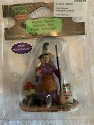 Lemax Spooky Town Free Samples 12010 Witch In Hat Apples Train Village Figure