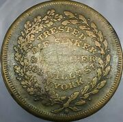 1820and039s R Trested Ny-922b R-7 Die Sinker New York Merchant Token