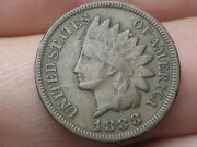1888 Indian Head Cent Penny, Vf/xf Details, Diamond