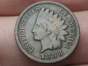 1888 Indian Head Cent Penny Fine/vf Details