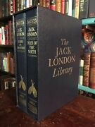 Jack London Deluxe Leather Book Set Illustrated Novels And Stories