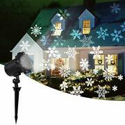 2020 New Moving Snowflake Lights White Christmas Projector Lights Led
