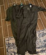 Us Navy One Piece Flight Suits Od Green Sizes 40r-42r
