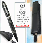 New Laban Mento R/ball Coral Flake Lrn-r988cf And Leather Pouch - 155 Value