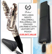Laban Mento R/ball Ice Cracked Lrn-r988-ic And Leather Gift Pouch 155 Value