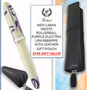 Laban Mento R/ball Ivory Purple Electric Lrn-r988ippe And Leather Pouch - 155