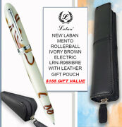 Laban Mento R/ball Ivory Brown Electric Lrn-r988ibre And Leather Pouch 155 Value
