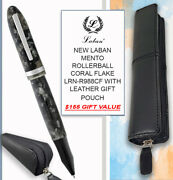 Laban Mento Rollerball Coral Flake Lrn-r988cf And Leather Pouch - 155 Value