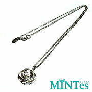 Camellia Necklace Silver Tip Pendant Used From Japan F/s