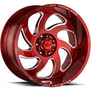 5 - 22x12 Red Wheel Off Road Monster M07 5x5 -44