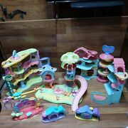 Littlest Pet Shop Lps Biggest Playset House, Whirl Around, Play Ground Etc As Is