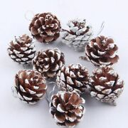 9pcs Christmas Tree Natural Pinecone Bauble Hanging Ornaments Crafts Decorations