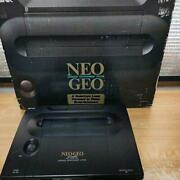 Snk Neo Geo Neogeo Aes Rom Home Game Console Complete Set Box Boxed Tested