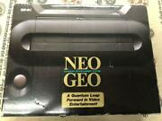 Snk Neo Geo Neogeo Aes Rom Home Game Console Complete Set Box Tested Near Mint