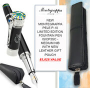 Montegrappa Pele P-10 Limited Edition F/pen And Leather Pouch - 3825 Value