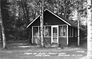 Bliss Musky Lodge Cabin High Lake Boulder Junction Wisconsin Real Photo Postcard