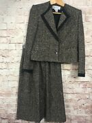 Carlisle Two Piece Suit Top Size 8 Skirt Size 10