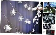 Christmas Lights,snowflake String Lights Battery Operated Waterproof 20ft 40