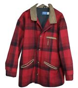 Pendleton 100 Virgin Wool Large 5 Button Coat 3m Thinsulate Lined Made In Usa