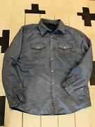 Mens Marmot Arches Insulated Long Sleeve Flannel Shirt Jacket Blue Nwot Perfect