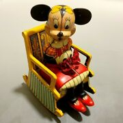 As Long It Is Physical Product Linemar Disney Minnie Mouse Rocking Chair Tin Toy