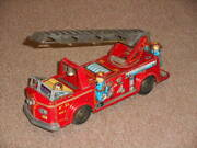 Old Tin Toy Fire Engine Ladder Car American Cars Nomuratoy