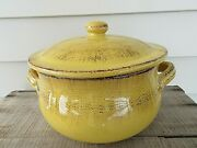 New Terre Dand039umbria De Silva Made In Italy Large Terracotta Pot Yellow With Lid