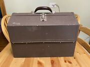 Antique Kennedy Kits 1118-al Cantilever Tool Tackle Mechanic Box
