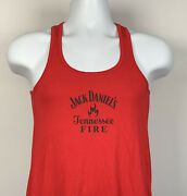 Jack Daniels Tennessee Fire Whiskey Tank Top Shirt Womens Small Red