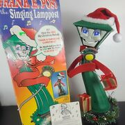 Frank E. Post Vintage Animated Singing Lamppost 22 Telco W Box--excellent