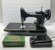 Vintage Singer 221-1 Featherweight Portable Electric Sewing Machine 1953 Tested