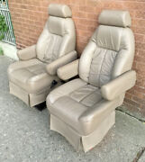 2003 Chevy Express Gmc Savanna Van Pair Of Used Tan Leather Seats Captain Chairs