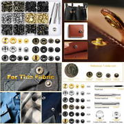 120 Set Leather Snap Fasteners Kit 12.5mm Metal Button Snaps Press Standard